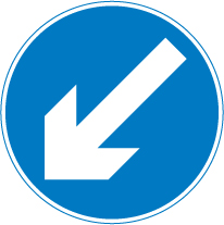 regulatory-signs - keep to the left