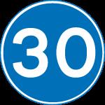 regulatory-signs - minimum speed