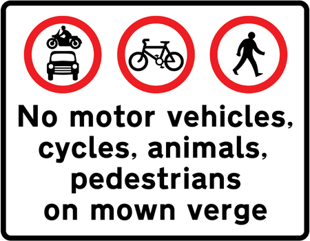 regulatory-signs - motorway restrictions