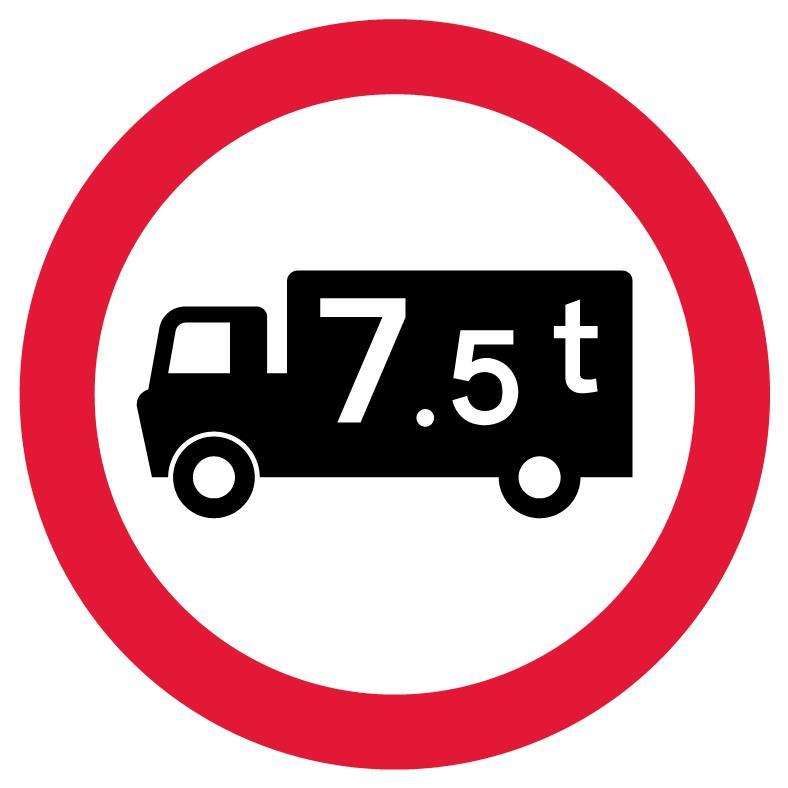 regulatory-signs - no 7 5 tonne trucks