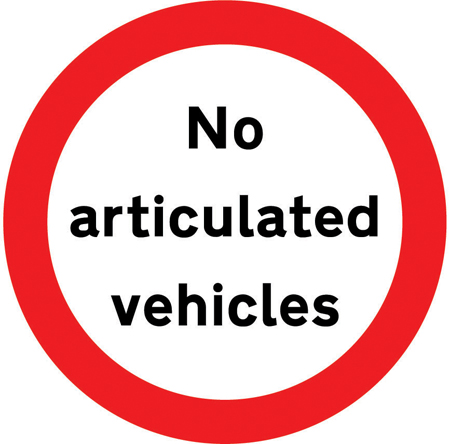 regulatory-signs - no articulated vehicles