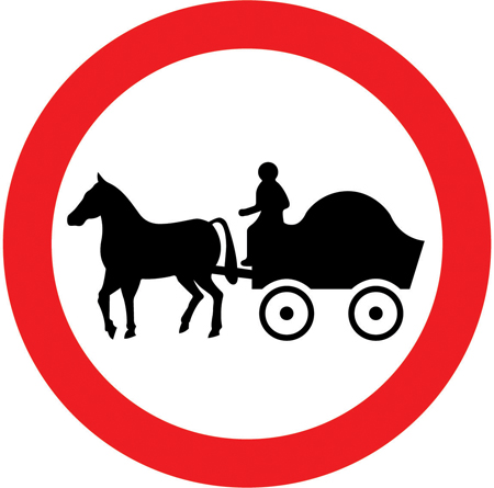regulatory-signs - no horse drawn carriages