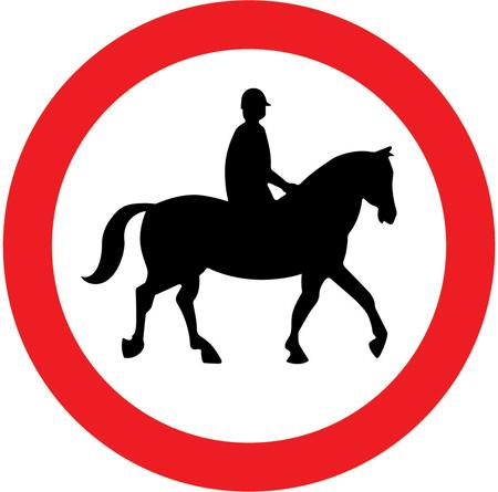 regulatory-signs - no horses