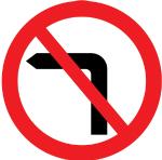 regulatory-signs - no left turn