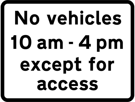 regulatory-signs - no vehicles except for access