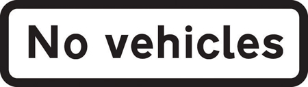 regulatory-signs - no vehicles plate