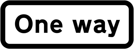 regulatory-signs - one way plate