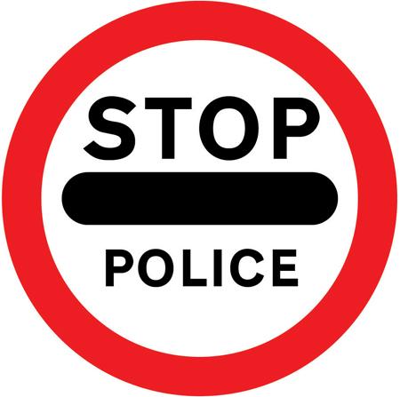 regulatory-signs - police stop