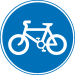 regulatory-signs - route for bicycles only
