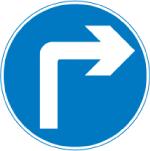 regulatory-signs - turn right ahead