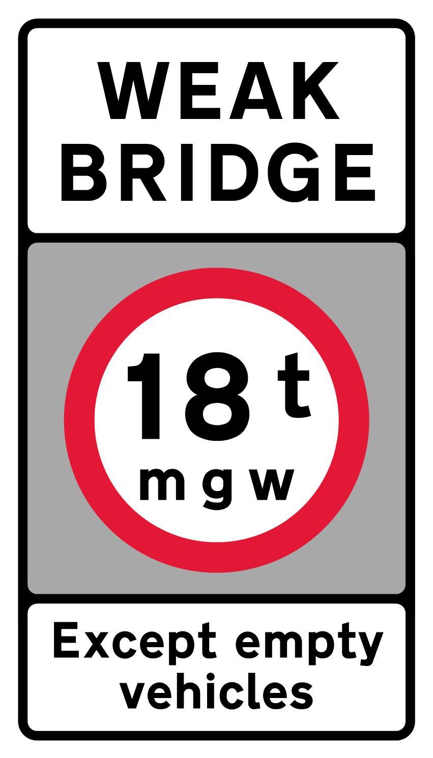 regulatory-signs - weak bridge