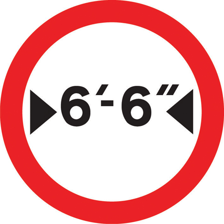 regulatory-signs - width restriction