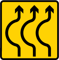 road-works-and-temporary - 3 lane bend