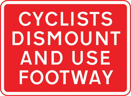 road-works-and-temporary - cyclists dismount