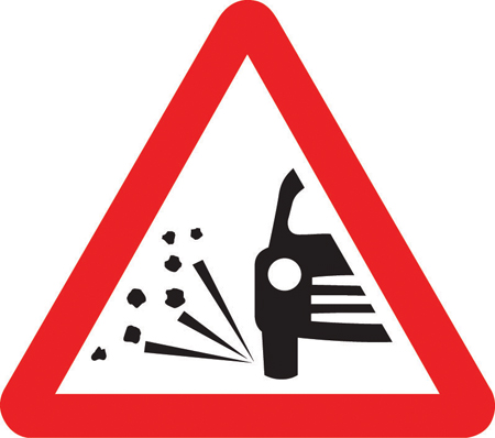 road-works-and-temporary - loose chippings