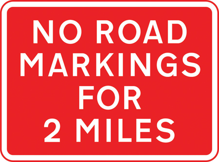 road-works-and-temporary - no road markings