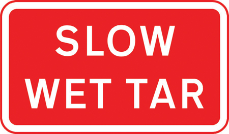 road-works-and-temporary - slow wet tar