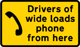 road-works-and-temporary - wide loads phone