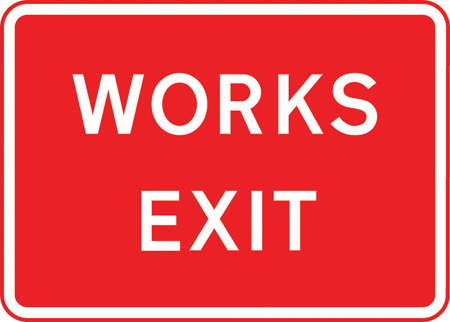 road-works-and-temporary - works exit