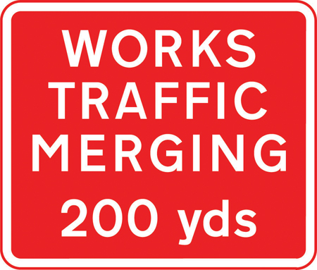 road-works-and-temporary - works traffic merging