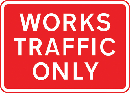 road-works-and-temporary - works traffic only