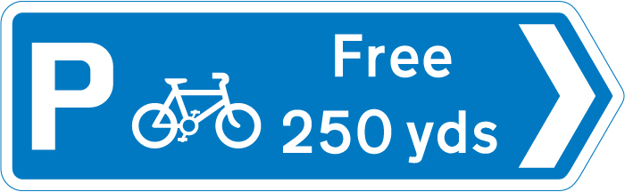signs-for-cyclists-and-pedestrians - cycle parking