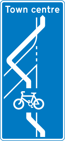 signs-for-cyclists-and-pedestrians - cycle route