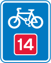 signs-for-cyclists-and-pedestrians - cycle route 14