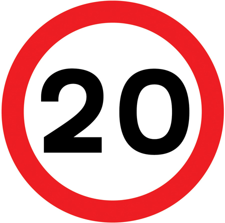 speed-limit-signs - max 20