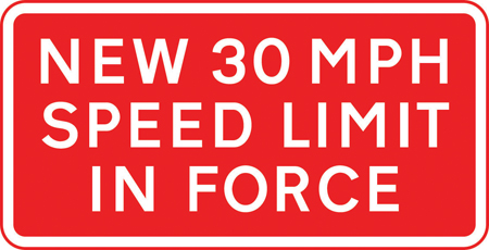 speed-limit-signs - new speed limit