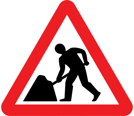 speed-limit-signs - road works