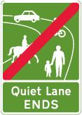 traffic-calming - end of quiet lane