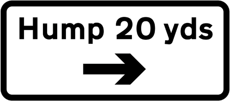 traffic-calming - humps 20 yds