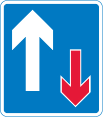 traffic-calming - priority over oncoming vehicles