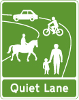 traffic-calming - quiet lane