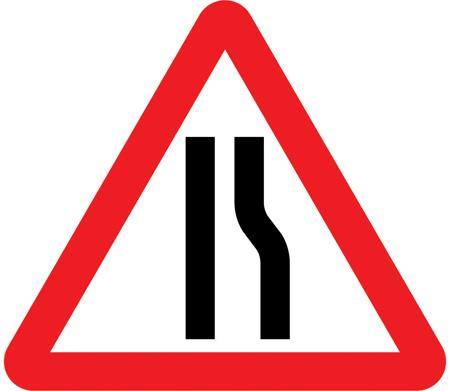 traffic-calming - road narrows right