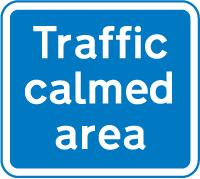 traffic-calming - traffic calmed area