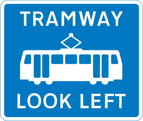 tram-signs - trams look left