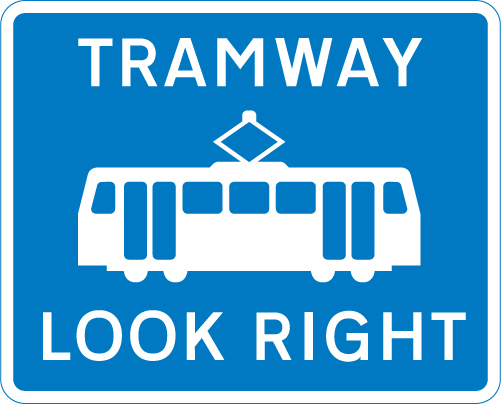 tram-signs - trams look right