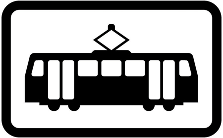 tram-signs - trams plate