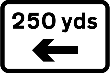 warning-signs - 250 yds