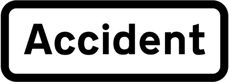 warning-signs - accident plate