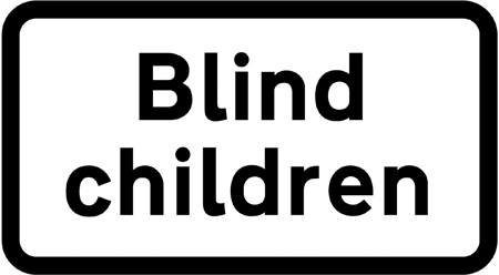 warning-signs - blind children
