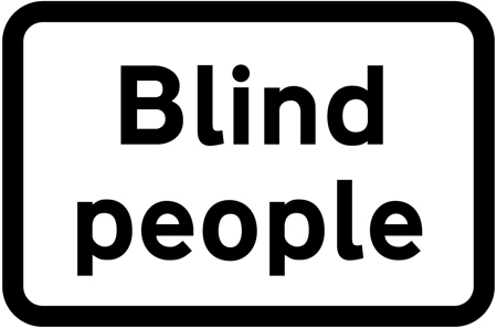 warning-signs - blind people