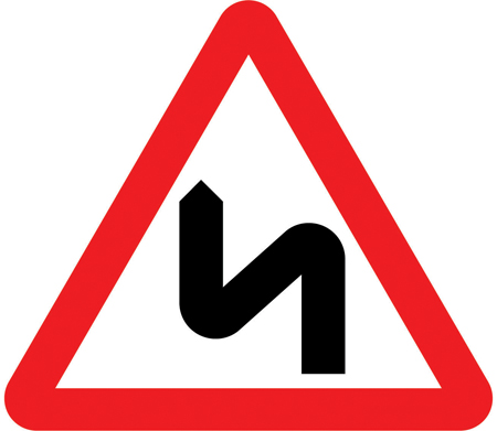 warning-signs - double bend left right