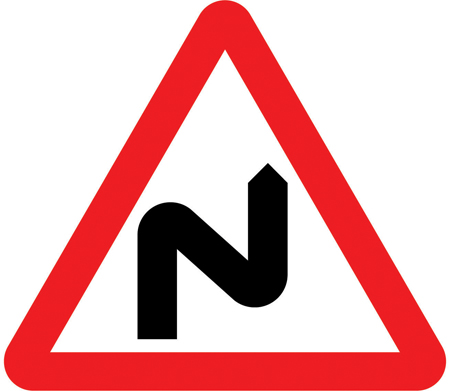 warning-signs - double bend right left