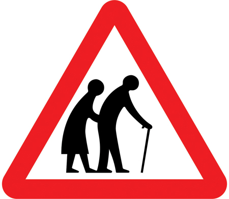 elderly people crossing