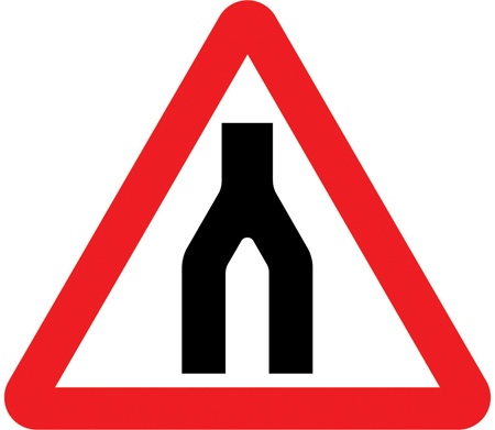 end of dual carriageway