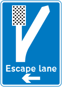 warning-signs - escape lane left   2