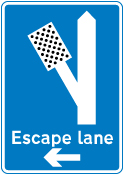 warning-signs - escape lane left   3